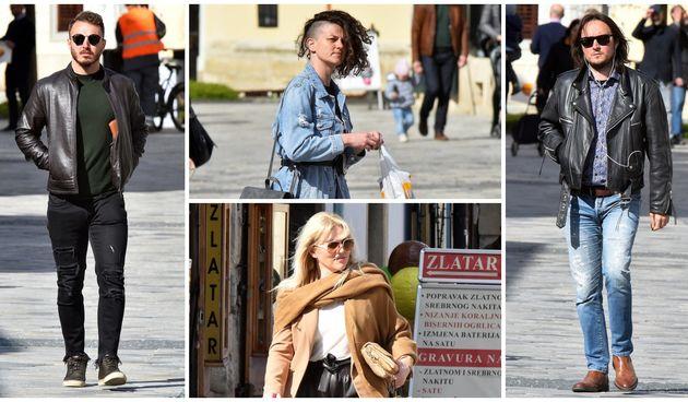 KLIKOM PO GRADU Sunčane naočale i kožne jakne danas su bile popularne, evo kao je bilo u Varaždinu