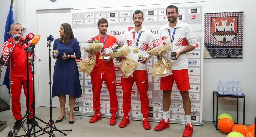 Mektić, Pavić i Čilić vratili se s medaljama u Hrvatsku