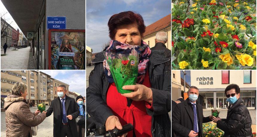 FOTO HNS u Čakovcu dijelio jaglace povodom Dana žena, nakratko preimenovali i Ulicu kralja Tomislava