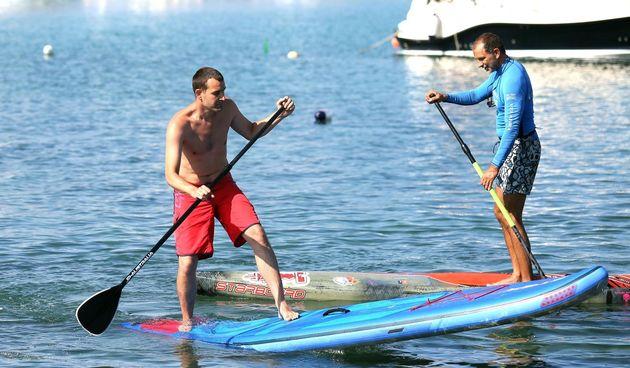 Veslanje na dasci za surfanje