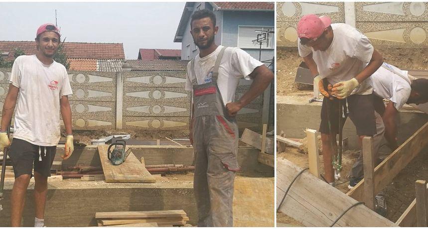 SVIMA ZA PRIMJER Jurica i Kristijan po vrućini rade u građevini i ne žele živjeti na teret države