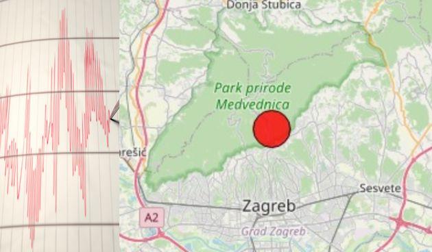 Potres, Zagreb