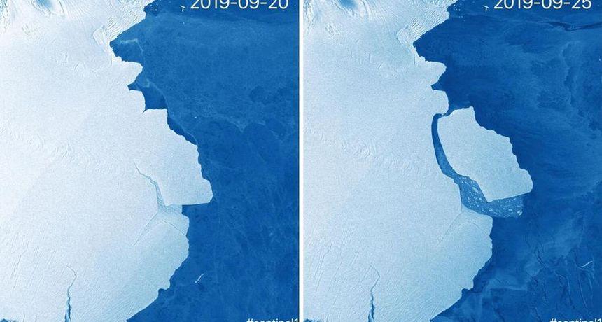 Santa leda teška 315 milijardi tona odvojila se od Antarktike: 'Zasad ne treba dizati uzbunu'