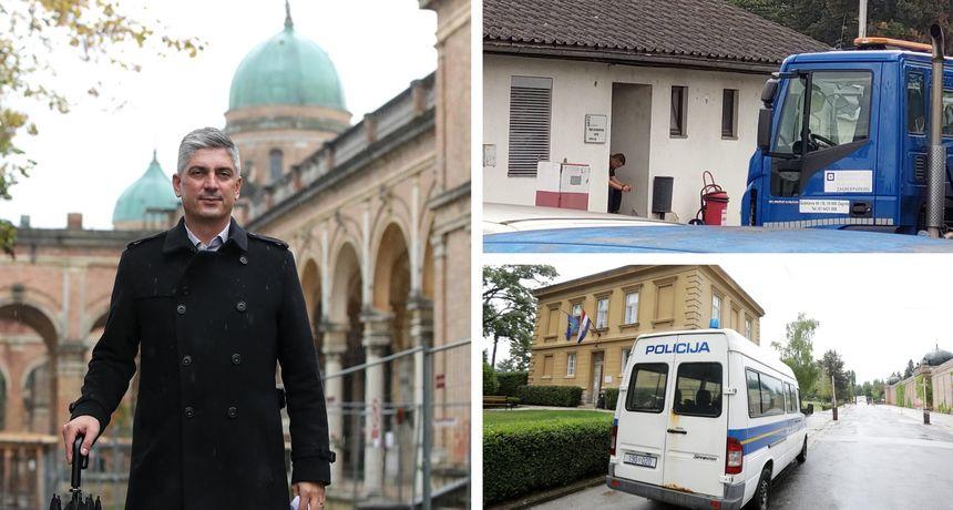 Uhićen bivši ravnatelj Gradskih groblja Zagreb Patrik Šegota, ispitana mu je i sestra. Istražitelji i u sudu u Sesvetama