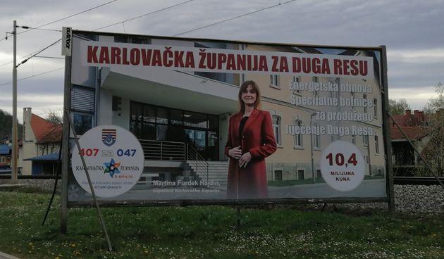 Uoči izbora prigodno i Karlovačka županija krenula u promociju županice - HDZ-ove kandidatkinje: Obavještavamo javnost o radu, radili smo to i prije