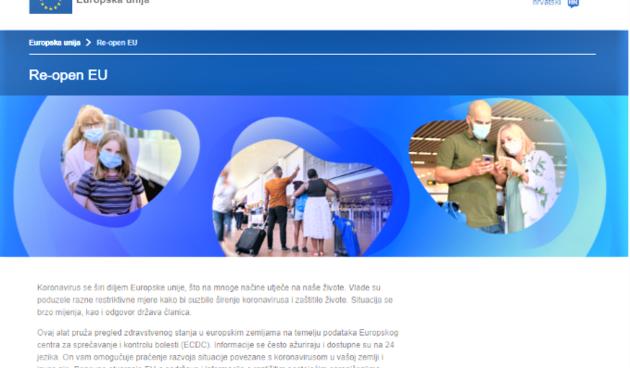 Mobilna aplikacija Re-open EU s ažuriranim informacijama o zdravlju, sigurnosti i putovanjima u Europi