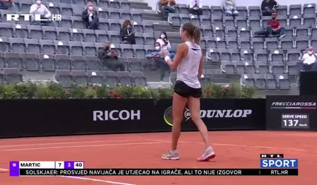 NASLOV: Martić u polufinalu Rima: 'Očekujem veliku bitku, želim uživati u ovom rezultatu' (thumbnail)