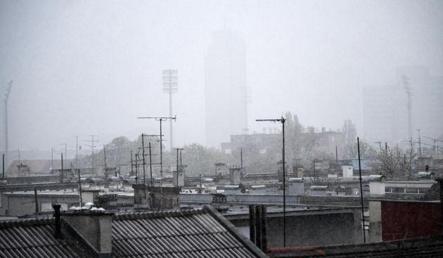 U Zagrebu pada snijeg