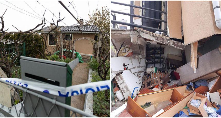 FOTO U podrumu kuće eksplodirala plinska boca: Jedna osoba je ozlijeđena, kući prijeti urušavanje