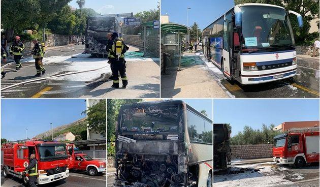 Izgorio turistički autobus u Dubrovniku