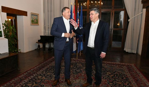 Milorad Dodik i Zoran Milanović, 26.10.2021.