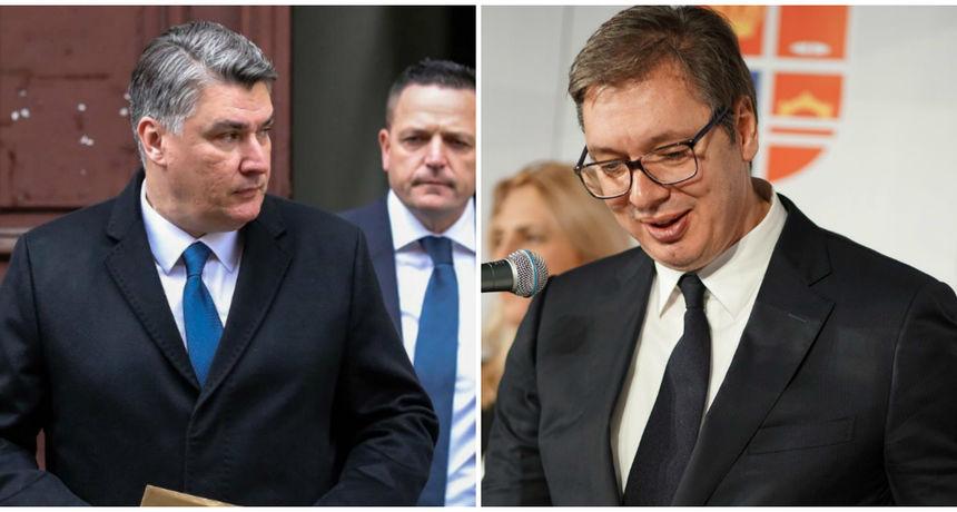 Vučić poručio da na Milanovićeve plitke i niske uvrede neće odgovarati uvredama: 'On je izbor građana Hrvatske i time njihova slika i prilika'
