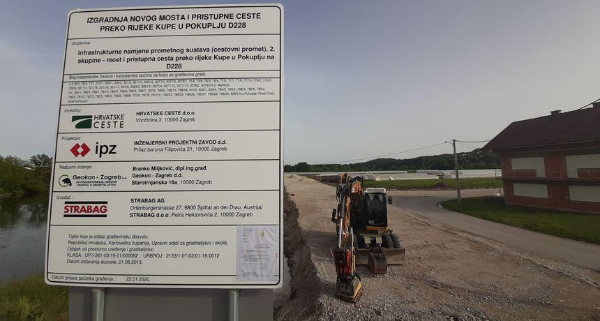 Od sutra obilazno prema Karlovcu, most u Gornjem Pokupju zatvorit će se u 9 sati