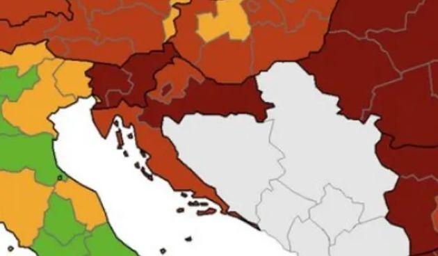 ECDC objavio novu korona kartu: Slavonija u tamnocrvenom