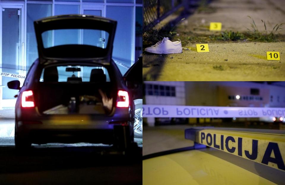 Policijski očevid na mjestu pucnjave u Sesvetama