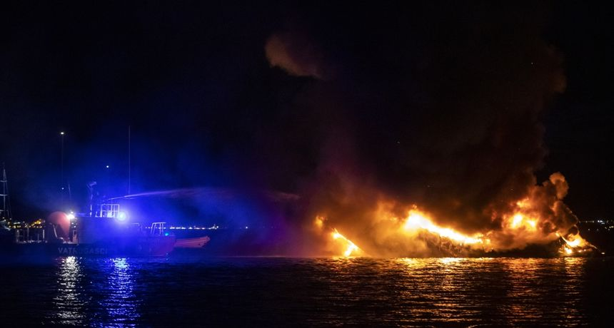 Poznat uzrok požara na plovilu Sukošanu