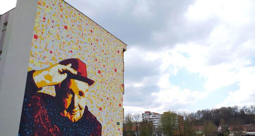 Lesićev mural Miroslava Krleže i slika Ranka Marinkovića ušli u udžbenike hrvatskog jezika za gimnazije i strukovne škole