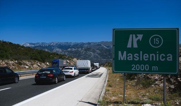 Tunel sv. Rok, Maslenica, autocesta A1, bura