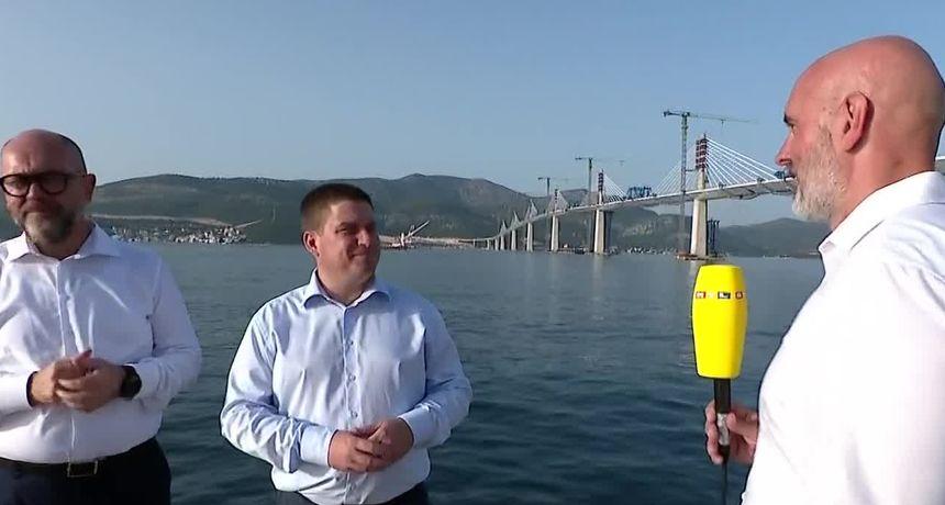 Ministar Butković: 'Neće biti naplate cestarine i mostarine na Pelješkom mostu - nikada. Znamo što on znači za Hrvatsku'