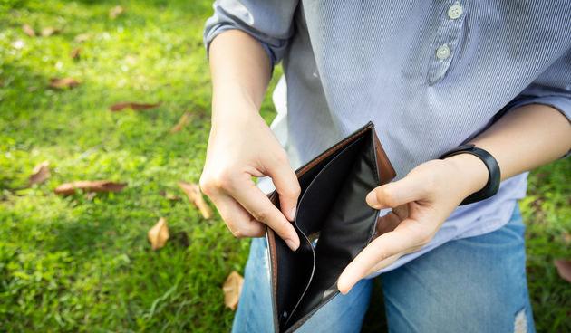 recesija, novčanik, prazan novčanik, siromaštvo
