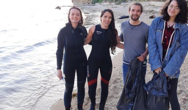 Strani studenti pomagali čistiti zadarsku obalu