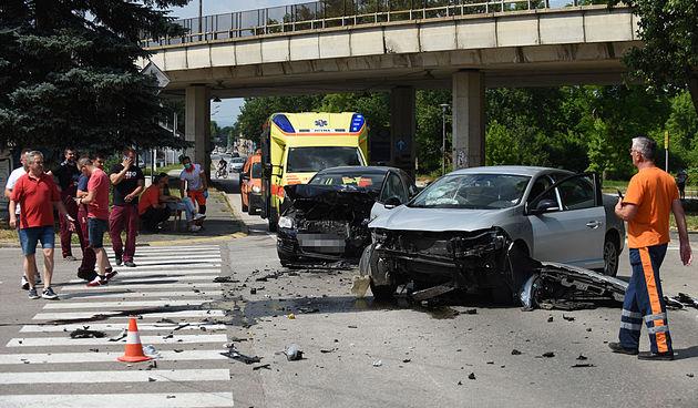 Prometna nesreća kod benzinske pumpe na Rakovcu 18. lipnja 2021.