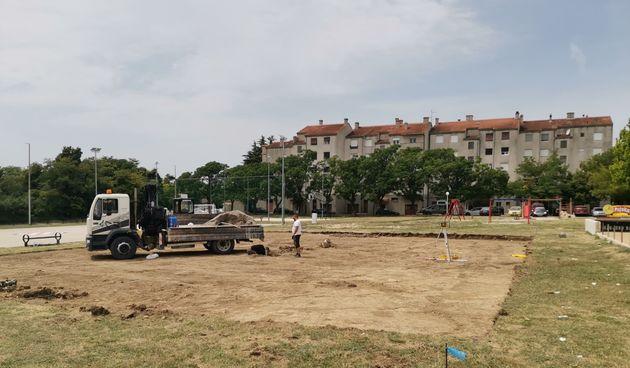Odbojkaški teren, radovi, Benkovac
