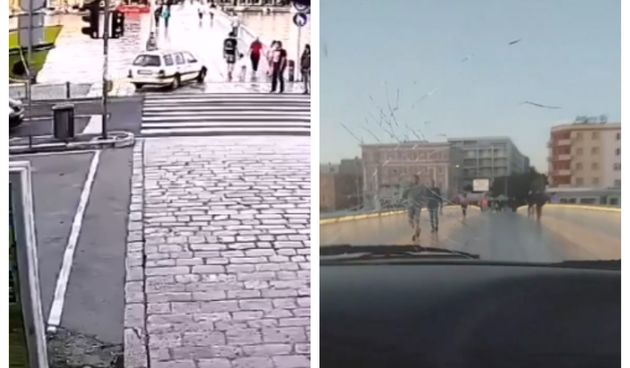 Sve je moguće uz narodnjake: Dvojica Zadrana vozila preko pješačkog mosta