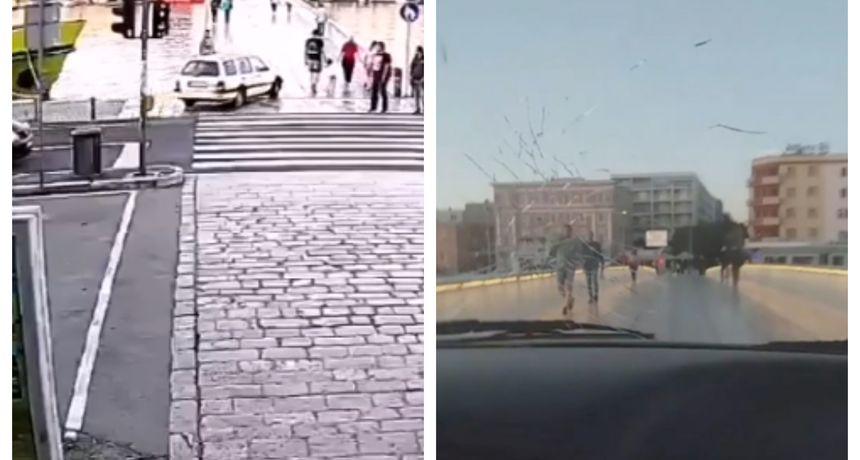 Tko još poštuje pravila: Dvojica Zadrana vozila preko pješačkog mosta