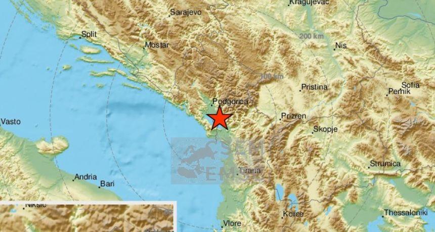 Potres magnitude 4,7 po Richteru kod Podgorice