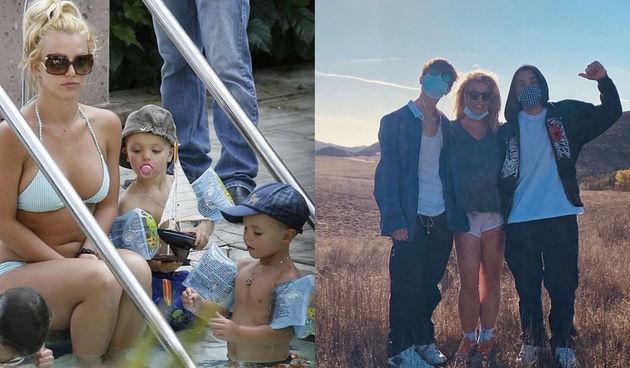 Britney Spears sa sinovima