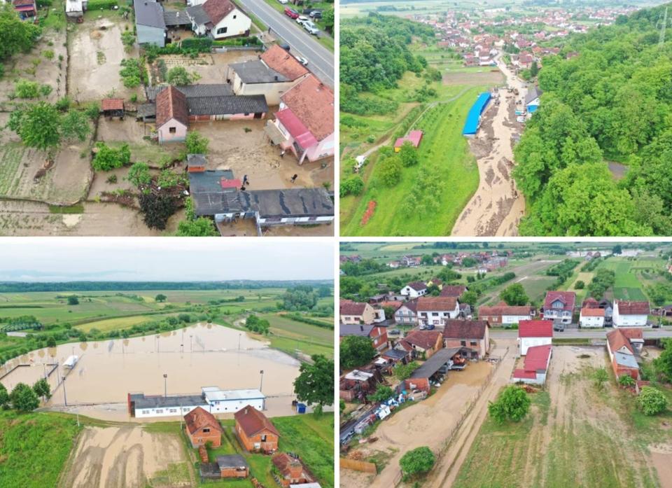 Pogledajte kako izgleda Požega iz zraka nakon velike poplave: 'Zmije su krenule prema kućama'