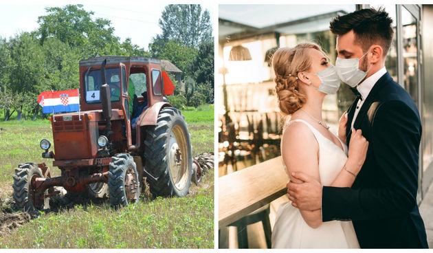 traktor, svadba