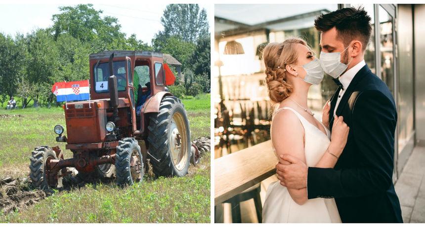Svatovi iz Slavonije po pravilima: 'Nismo imali vlakić, ali smo imali traktorčić'