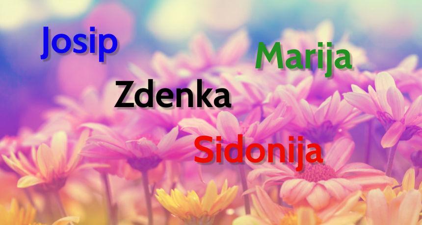 DANAS JE NJIHOV DAN Osobe imena Josip, Zdenka, Sidonija i Marija slave imendan!