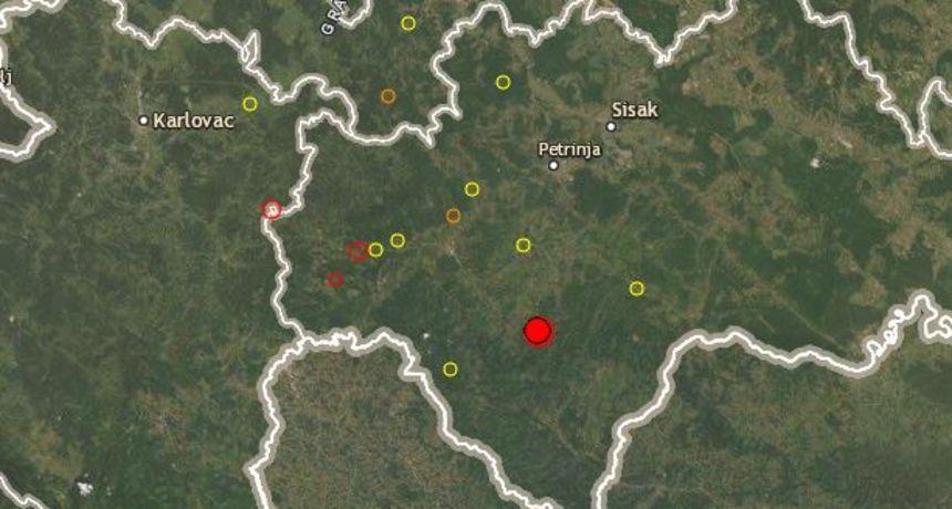 Novi potres zatresao i Karlovčane - epicentar 20 kilometara južno od Petrinje, jačine je 4,6 stupnja po Richteru