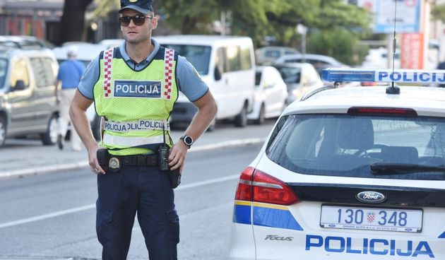 ilustracija, policajac, policija, policijski auto
