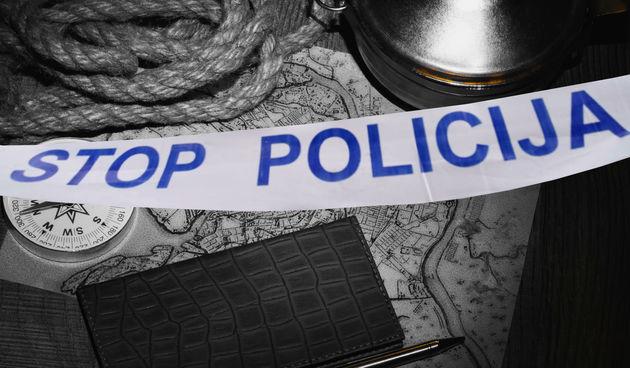 špaga, davljenje, policijska traka