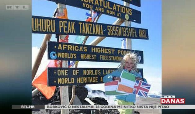 Još ni u školu ne ide, a već je dvaput osvojila Kilimanjaro  (thumbnail)