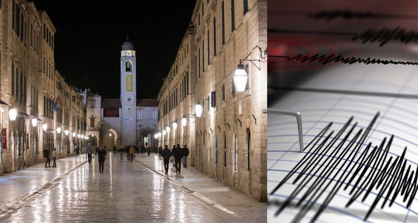 Potres zatresao Dubrovnik i okolicu: 'Dobro je drmalo. Bio je kratak, ali jak'