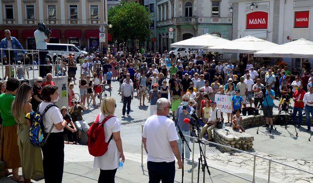 Pula, protest za novinare Glasa Istre