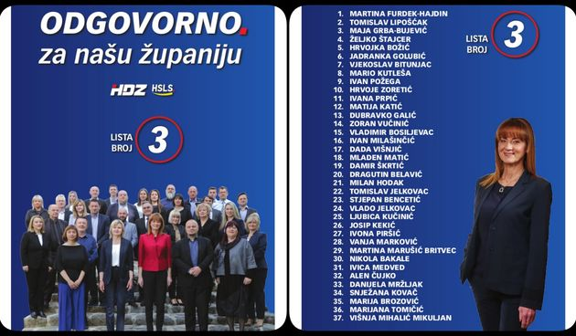 Na listi HDZ-a i HSLS-a za Županijsku skupštinu su ljudi koji su dokazali svoju stručnost i znanje - predvodi ih kandidatkinja za županicu Martina Furdek-Hajdin