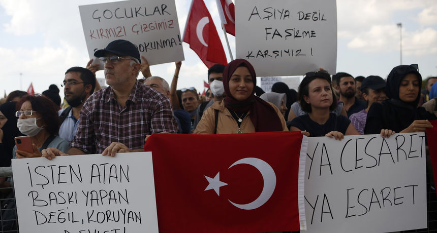 Prosvjedi protiv korona mjera u Beču, Francuskoj, Nizozemskoj, Turskoj