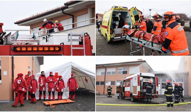 Vježba gašenja, evakuacije i spašavanja u OŠ Orehovica