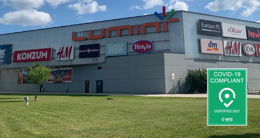 Trgovačkom centru Lumini ponovno je dodijeljen certifikat Covid-19 Compliant