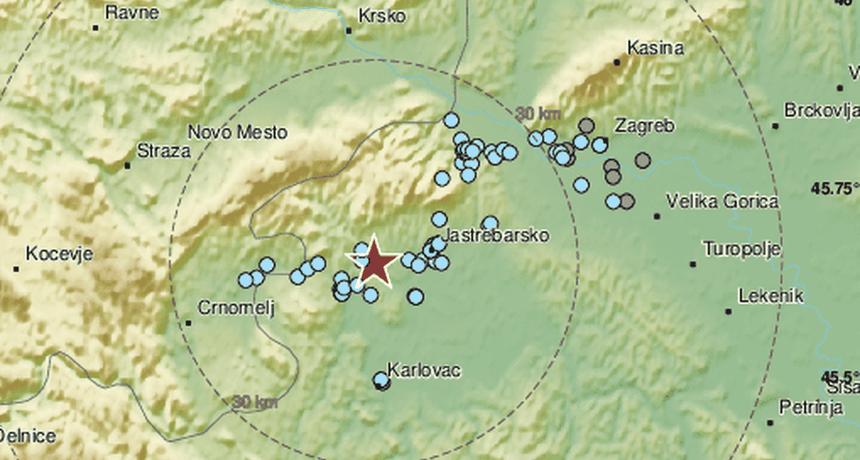 Potres jačine 2,8 Richtera pogodio Krašić: 'Trajao je par sekundi'