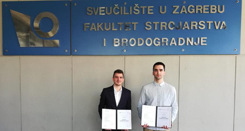 LIJEPE VIJESTI Bivši učenici čakovečke gimnazije, Luka Strniščak i Karlo Posavec izvrsni studenti