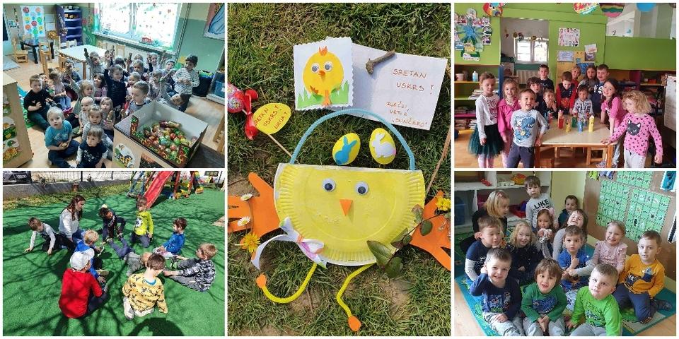 Sretan Uskrs žele vam djeca, roditelji i djelatnici dječjih vrtića 'Sunčeko' u Selnici i 'Pahuljice' u Murskom Središću!