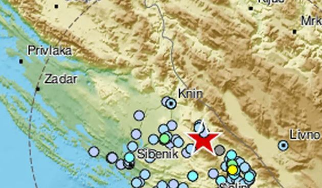 Jutros potres kod Splita: Bio je magnitude 3,2  s epicentrom kod Drniša
