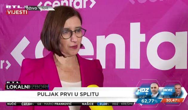 Supredsjednica Centra Marijana Puljak o rezultatima u Splitu (thumbnail)